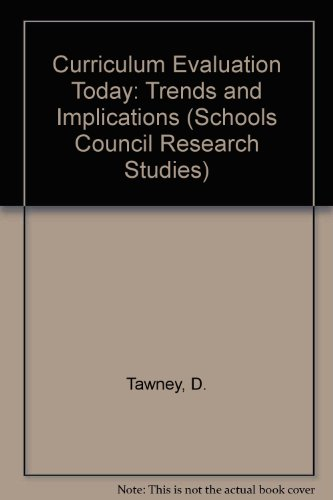 9780333197431: Curriculum Evalution Today: trends and Implications