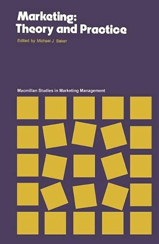 9780333198209: Marketing: Theory and Practice (Macmillan studies in marketing management)
