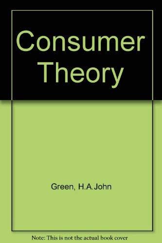 9780333199411: Consumer Theory