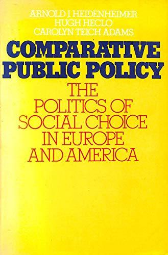 9780333199817: Comparative Public Policy