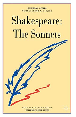 9780333212370: Shakespeare: The Sonnets (Casebooks Series)