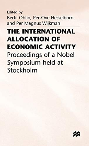 9780333214237: The International Allocation of Economic Activity
