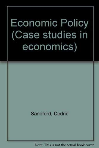 9780333214787: Economic Policy (Case studies in economics)