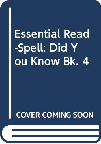 9780333215722: Essential Read-Spell: Did You Know Bk. 4