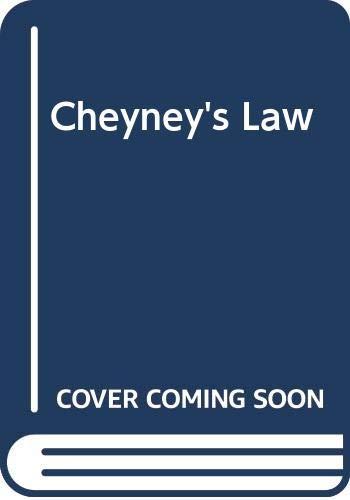 9780333216354: Cheyney's Law