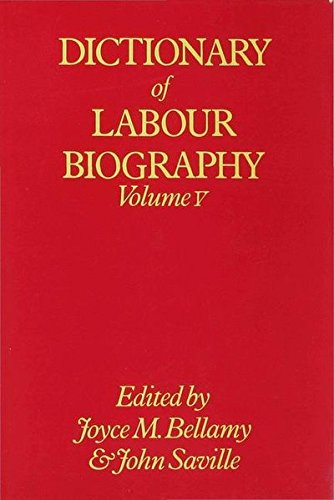 9780333220153: Dictionary of Labour Biography: Volume V