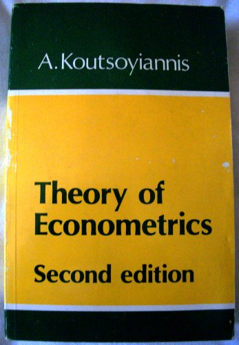 9780333223796: Theory of econometrics: An introductory exposition of econometric methods
