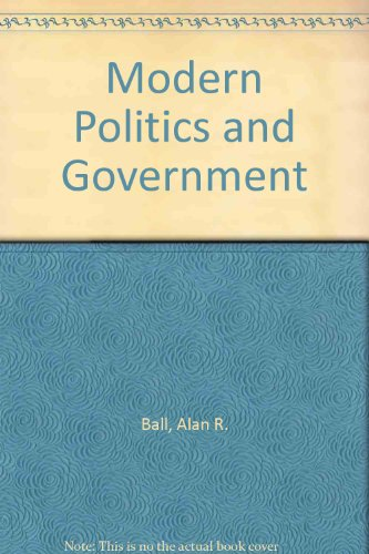 9780333226117: Modern Politics and Government
