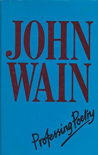 Professing poetry: Wain, John