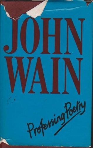Professing poetry (9780333226414) by Wain, John