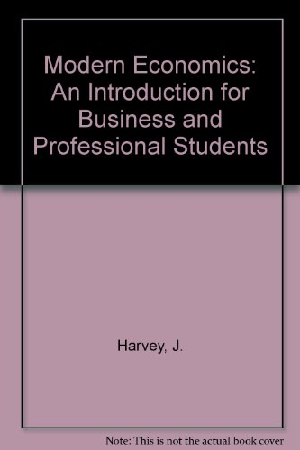 9780333230411: Modern Economics: An Introduction for Business and Professional Students