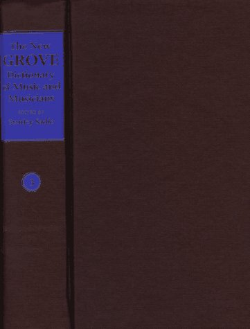9780333231111: The New Grove Dictionary of Music and Musicians