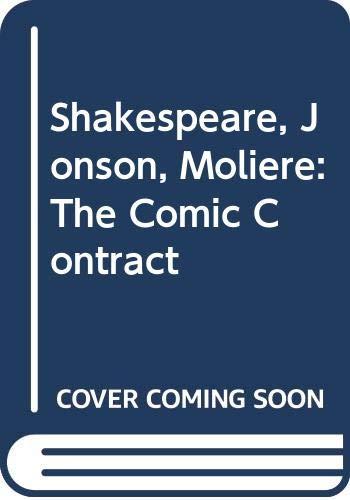 9780333233085: Shakespeare, Jonson, Moliere: The Comic Contract