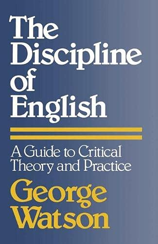 9780333233535: Discipline of English: A Guide to Critical Theory and Practice