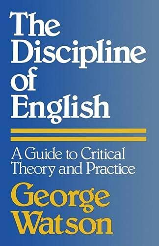 9780333233542: The Discipline of English: A Guide to Critical Theory and Practice