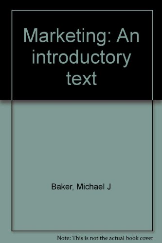 9780333236390: Marketing: An introductory text