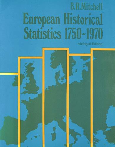 9780333237434: European Historical Statistics 1750-1970