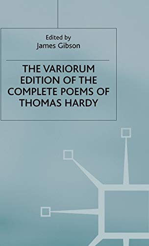 9780333237731: The Variorum Edition of the Complete Poems of Thomas Hardy (New Wessex E.)