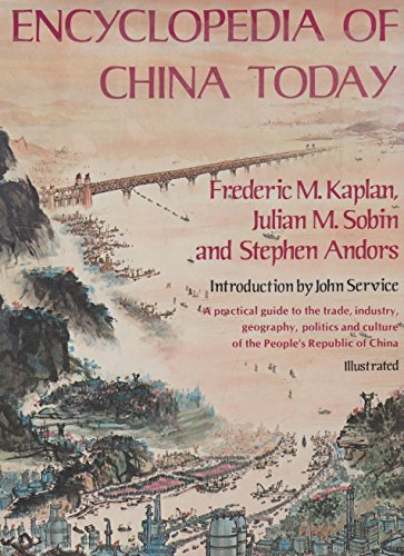 9780333237830: Encyclopedia of China Today