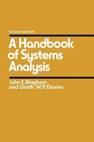 9780333241981: Handbook of Systems Analysis