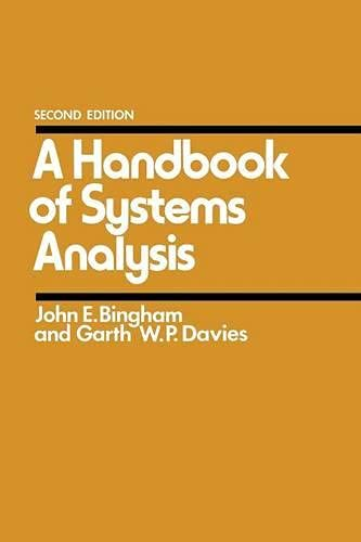 9780333241998: A Handbook of Systems Analysis