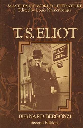 9780333242582: T.S.Eliot (Masters of World Literature)