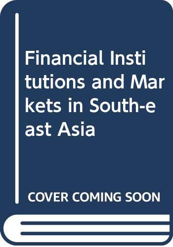 9780333246344: Financial Institutions and Markets in South-east Asia