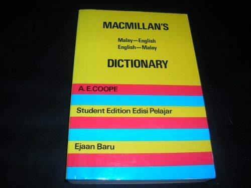 9780333246443: Macmillan's Malay-English English-Malay Dictionary (English and Malay Edition)