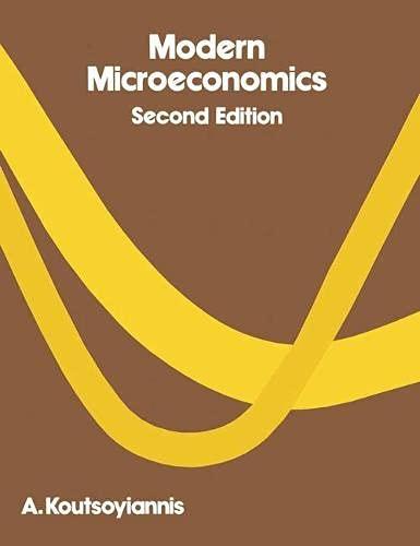 9780333253489: Modern Microeconomics