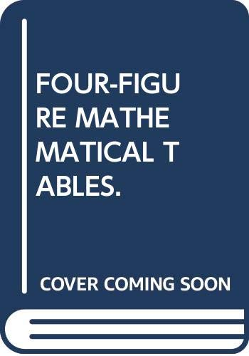 9780333253823: FOUR-FIGURE MATHEMATICAL TABLES.