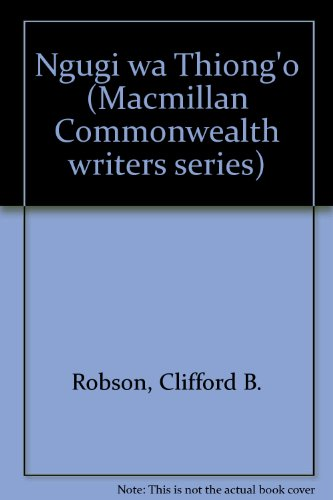 9780333254707: Ngugi wa Thiong'o (Macmillan Commonwealth writers series)