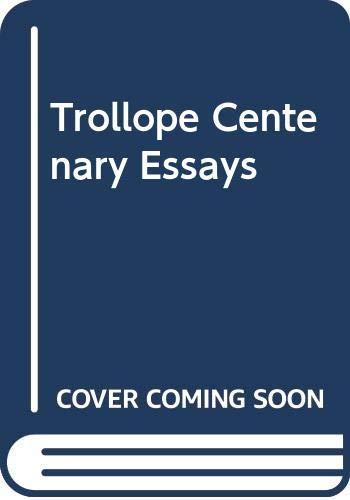 9780333256787: Trollope Centenary Essays