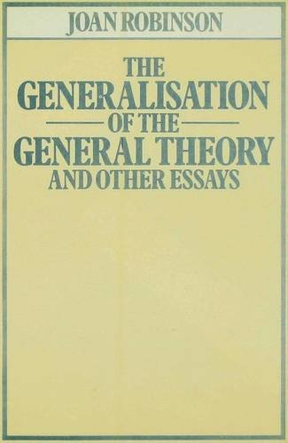 9780333257760: The Generalisation of the General Theory, and Other Essays