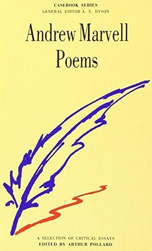 9780333258323: Marvell: Poems (Casebooks Series)