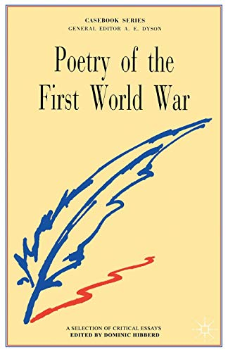 9780333261217: Poetry of the First World War (Casebook Series)