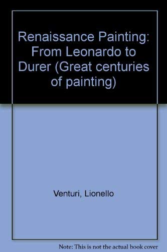 9780333266151: Renaissance Painting From Leonardo to Durer
