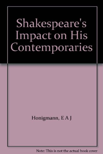 9780333269381: Shakespeare's Impact on His Contemporaries