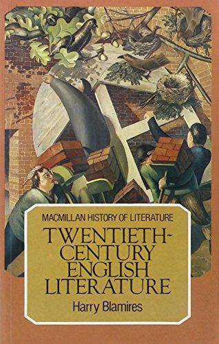 9780333270219: Twentieth Century English Literature (Macmillan History of Literature)