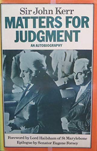 9780333270707: Matters for Judgment: An Autobiography