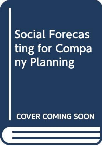 9780333270769: Social Forecasting for Company Planning