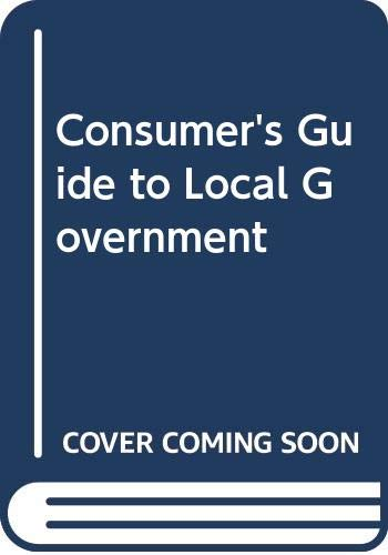 9780333271162: Consumer's Guide to Local Government