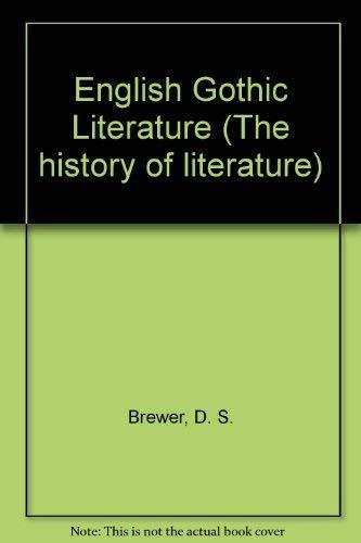 9780333271384: English Gothic Literature