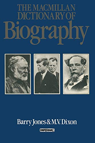 The Macmillan Dictionary of Biography: Barry Jones & M.V. Dixon