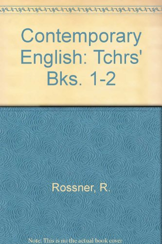 Contemporary English: Tchrs' Bks. 1-2: Rossner, R.