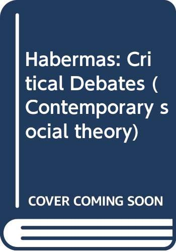 9780333275498: Habermas: Critical Debates (Contemporary social theory)