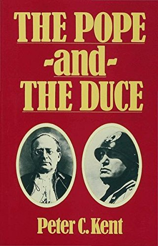 9780333277744: The Pope and the Duce: The International Impact of the Lateran Agreements