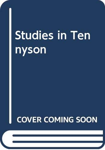9780333278840: Studies in Tennyson