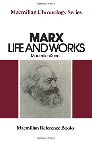 9780333280492: Marx: Life and Works (The Macmillan chronology series)
