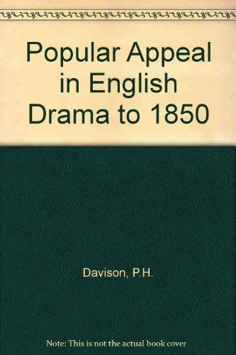 9780333280843: Popular Appeal in English Drama to 1850