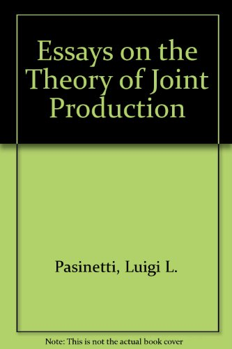 9780333281055: Essays on the Theory of Joint Production